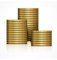 Stacks of coin vector image
