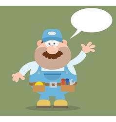 Talking Mechanic Cartoon vector