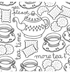 Tea and biscuit wallpaper vector