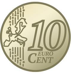 Ten euro cent coin vector