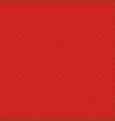 tile red knitting pattern or winter background vector image
