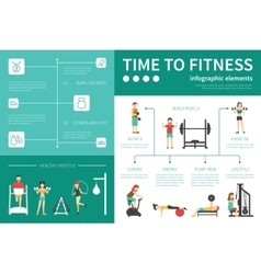 Time To Fitness infographic flat vector