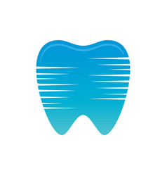 tooth sign logo vector image