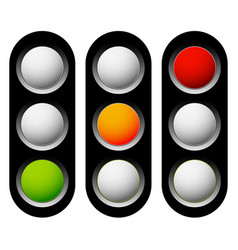 traffic lamp traffic light semaphore icon set vector image