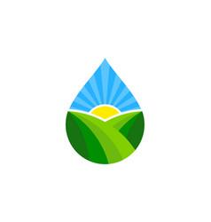 Water farm logo icon design vector