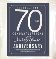 70 years anniversary background vector