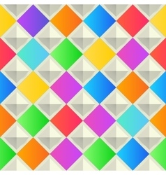 Abstract colorful background with rhombus shapes vector image vector image