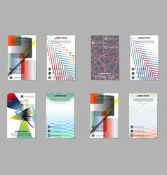 Template design layout brochure geometric vector