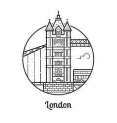 travel london icon vector image vector image