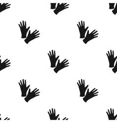 Black protective rubber gloves icon black single vector