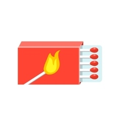 Box With Matches Simplified Icon vector image