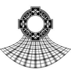 stencil of scottish celtic ring vector image vector image