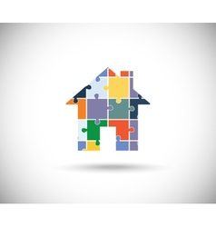 Abstract color house vector image