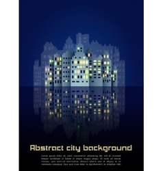 Abstract night city background vector image vector image