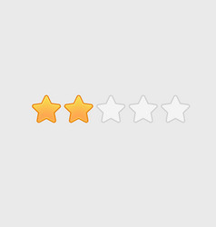 different star icons set vector image