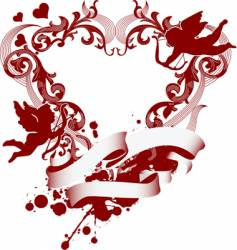heart and cupid icon vector image vector image