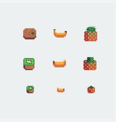 kiwi banana and pineapple fruits icons vector image