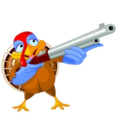 Shooting turkey vector
