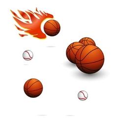 sport balls sign set vector image