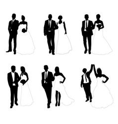 wedding couples vector image