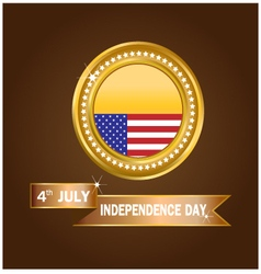 Banner American Independence Day vector image vector image