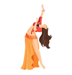 belly dancer girl isolated on white professional vector image