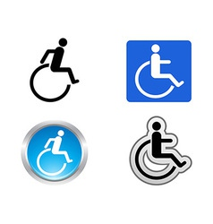 disability symbol vector image vector image
