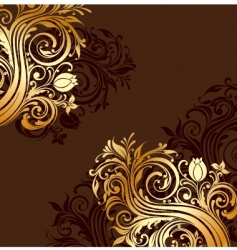 gold floral ornaments vector image vector image