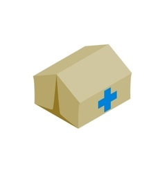 Medical center for refugees icon isometric style vector