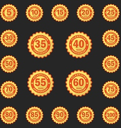 Set of Anniversary emblems logo templates Flat vector image