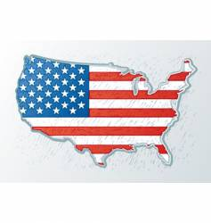 USA engrave style vector image