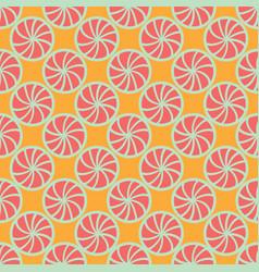 abstract lemon shapes seamless pattern vector image