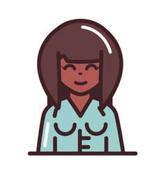 avatar woman female character portrait cartoon vector image