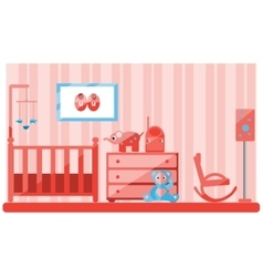 Baby room vector image