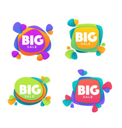 Big sale collection of bright discount bubble vector