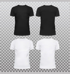 blank or empty t-shirts for men and women vector image