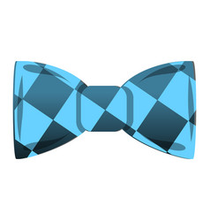 blue bowtie icon cartoon style vector image