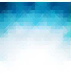 blue mosaic background creative design templates vector image