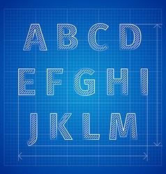 Blueprint font vector