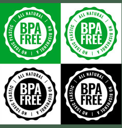 Bpa free bisphenol-a and phthalates label design vector