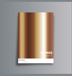 bronze gradient cover background for the banner vector image