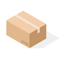 brown paper cardboard box sealed with tape vector image