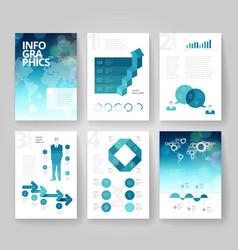 Business brochure design infographics template vector image