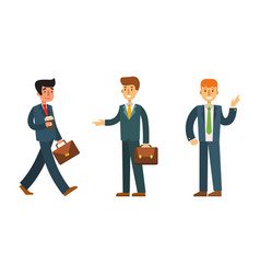 business people man character vector image