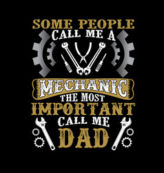 Call me dad father day quote and saying vector