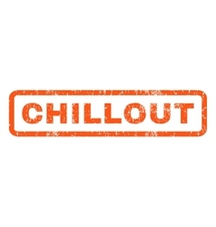 Chillout Rubber Stamp vector
