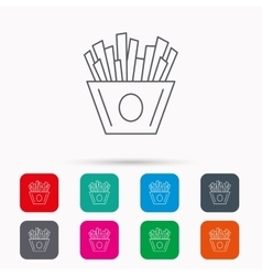 Chips icon Fries fast food sign vector image