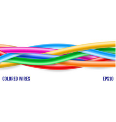 colorful wires technology background colored vector image
