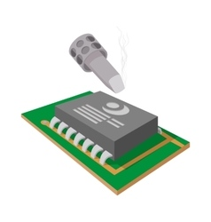 Computer repair icon cartoon style vector image