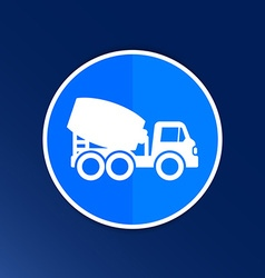 concrete mixer icon button logo symbol concept vector image